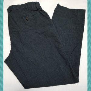 J. Crew Dark Gray Micro Checks Classic Fit Pants